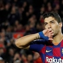 FILE PHOTO: Soccer Football - La Liga Santander - FC Barcelona v Deportivo Alaves - Camp Nou, Barcelona, Spain - December 21, 2019 Barcelona's Luis Suarez celebrates scoring their fourth goal from the penalty spot REUTERS/Albert Gea/File Photo
