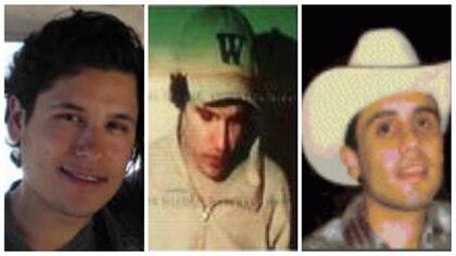 Jesus Alfredo, Iván Archivaldo y Ovidio, tres de los hijos del capo mexicano (Fotos: DEA)