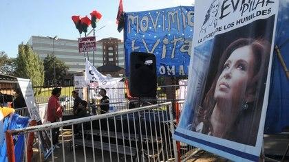 Una imagen del Hospital Austral cuando Cristina Kirchner fue operada en 2012