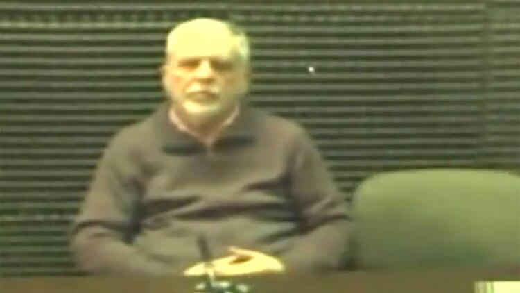 De Vido en una audiencia judicial desde la cárcel de Marcos Paz