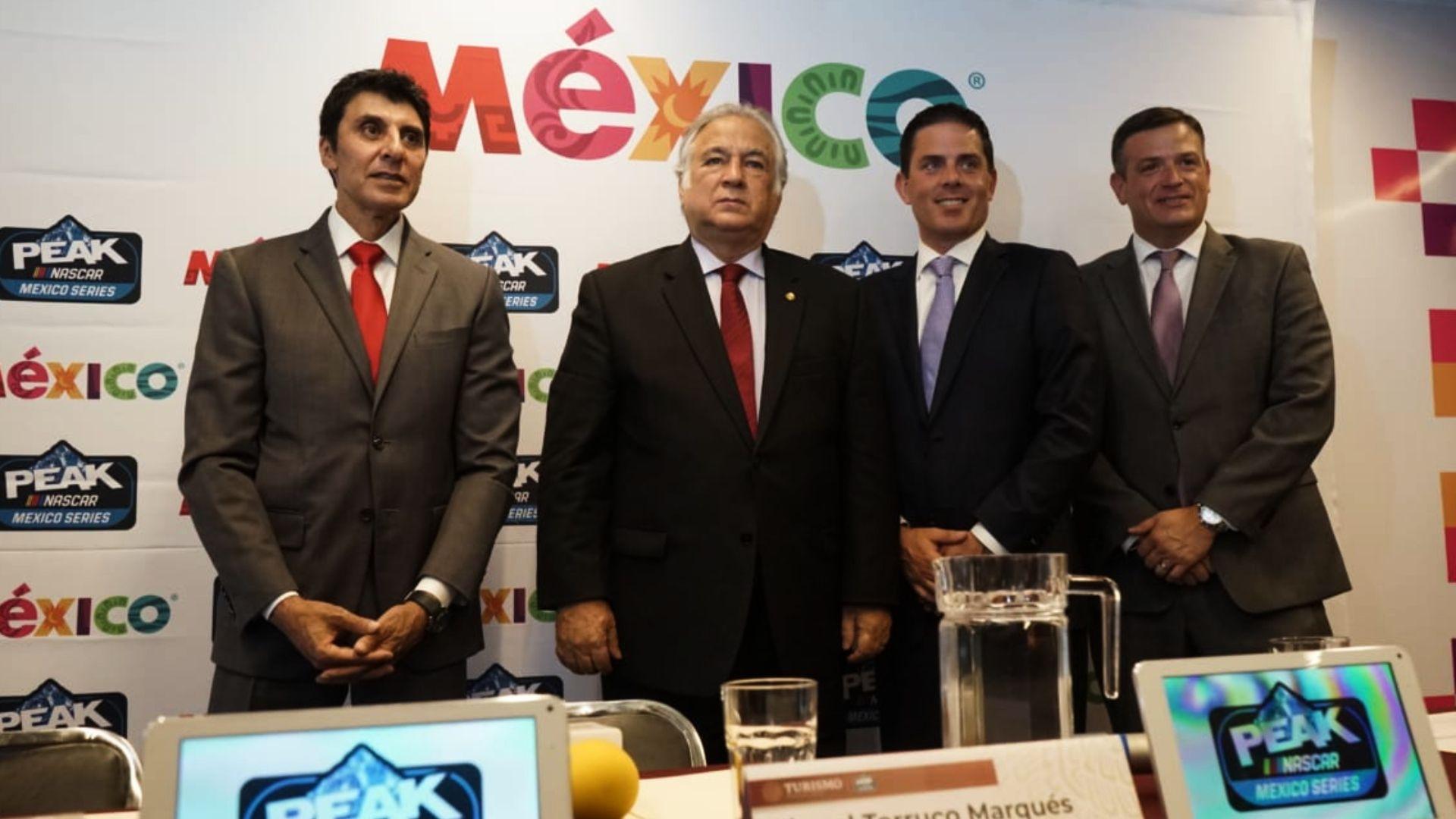 La Nascar Peak México anunció su convenio con Sectur (Foto: Twitter)