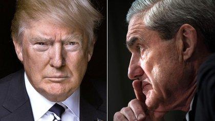 Donald Trump y el fiscal especial Robert Mueller