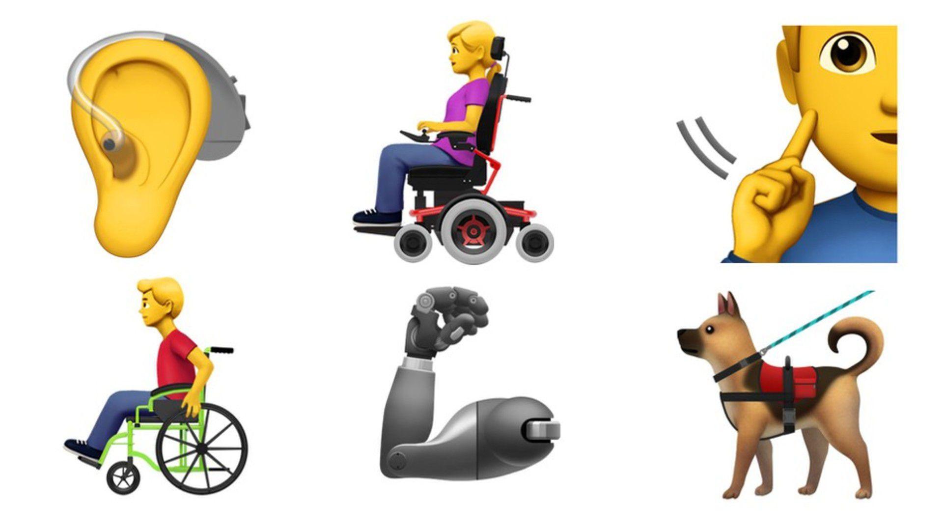 Nuevamente los creadores enfocaron en la inclusión, agregando emojis relacionados con personas con alguna discapacidad.