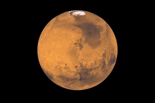 El planeta rojo, visto con el telescopio Hubble