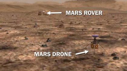 El helicóptero tiene un fuselaje apenas un poco más grande que una pelota de béisbol y pesa menos de 1,8 kg. Su lanzamiento está previsto para julio de 2020 y su llegada a Marte en febrero de 2021