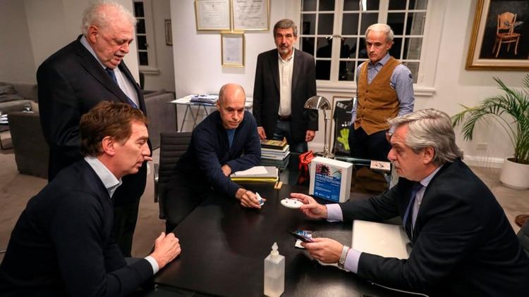 La foto del Presidente junto a Horacio Rodríguez Larreta y Diego Santilli el último fin de semana