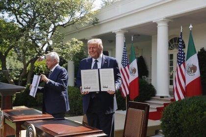 Donald Trump y Andres Manuel Lopez Obrador se reunieron en Washington, D.C., U.S.