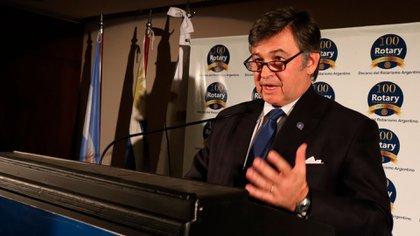 Daniel Pelegrina, presidente de la Sociedad Rural Argentina. Su entidad realizó un pronunciamiento sobre el presente y las perspectivas futuras del país.