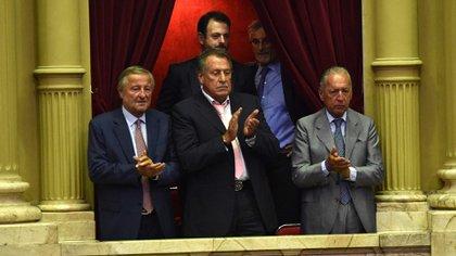 Los empresarios Cristiano Rattazzi, Jorge Brito, José Urtubey y Daniel Funes de Rioja (Franco Fafasuli)