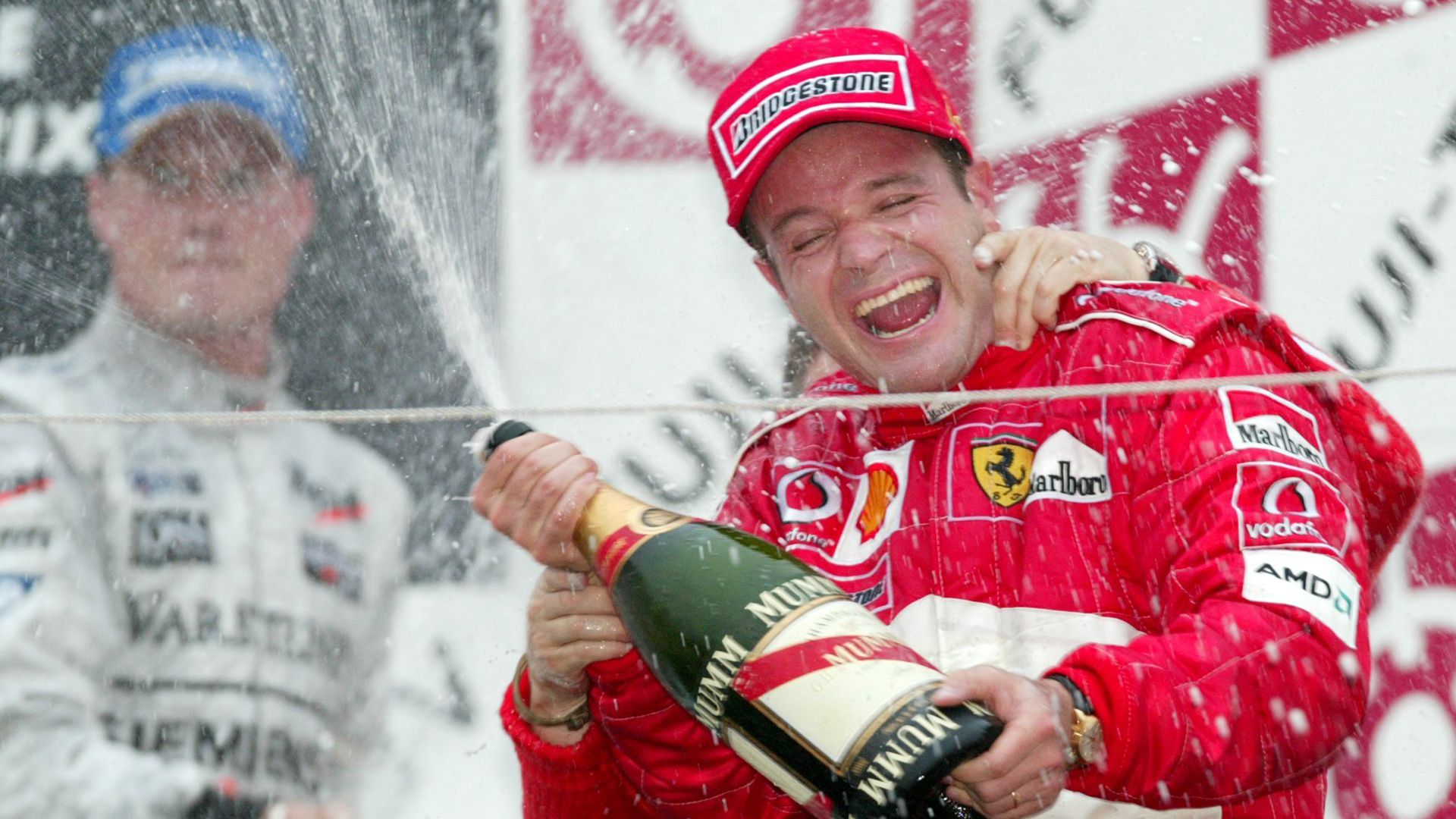 Rubens Barrichello cuando estuvo en Ferrari en la F1 (entre 2000 y 2005)
