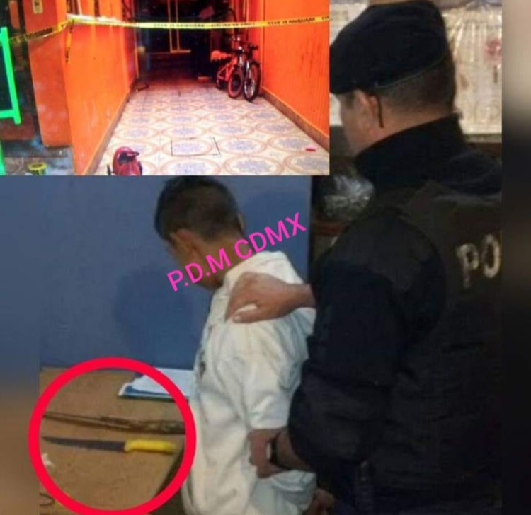 El presunto homicida utilizó un arma punzocortante para asesinar a su medio hermano (Foto: Especial)