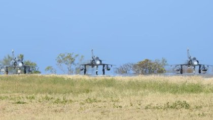 The joint exercise seeks to ensure air defense in this portion of the Caribbean Sea in Colombia.  Photo: Air Force