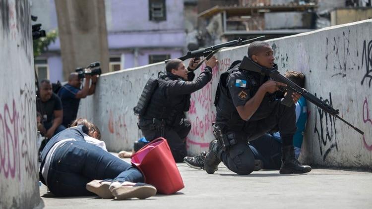 Un tiroteo en una favela de Río de Janeiro