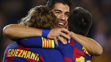 Luis Suárez habló de Lionel Messi y Antoine Griezmann