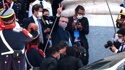 Alberto Fernández, ayer en el Congreso (Foto: Nicolás Stulberg)