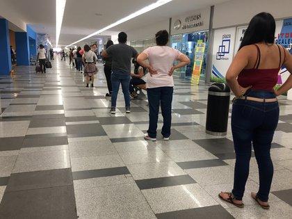 Una fiula en un centro comercial en México.