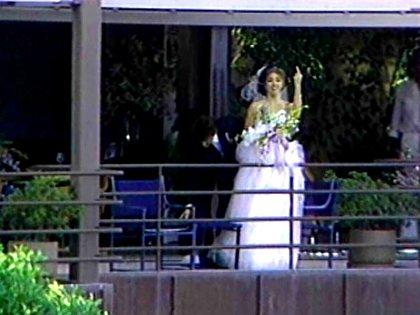 Madonna, indignada con los paparazzi durante la boda (Captura de TV)
