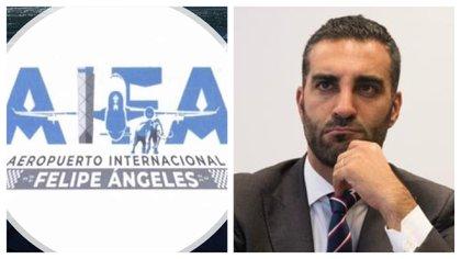 Simón Levy lanzó una convocatoria para crear el logotipo del Aeropuerto Felipe Ángeles (Foto: Twitter@SimpsonitoMX / Twitter@SimonLevyMx)