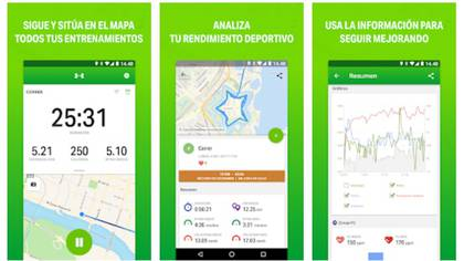 Endomondo así como otras apps de running permiten hacer un monitoreo de la actividad realizada.