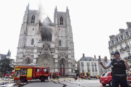Incendio en la catedral de Nantes (AFP/Europa Press)
