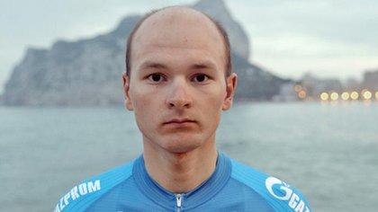 Corredor del equipo Gazprom-RusVelo. Dio positivo de coronavirus en los Emiratos Árabes, donde el 27 de febrero pasado se suspendió el Tour UAE.