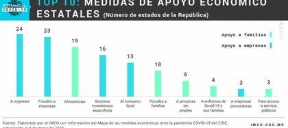 Top 10 medidas de apoyo económico (Foto: imco.org.mx)