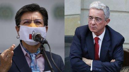 """Álvaro Uribe llama """"repelente"""" a Claudia López y le desea pronta recuperación del covid-19"""