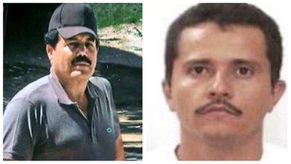 """Ismael """"El Mayo"""" Zambada y Nemesio """"El Mencho"""" Osegura son los capos que lideran a las facciones más poderosas de México y se disputan Zacatecas (Fotos: archivo Infobae)"""