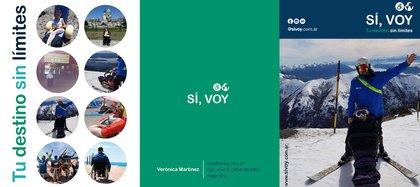 """Verónica es la creadora de """"Sí, Voy"""": una plataforma colaborativa de turismo accesible, que puso en marcha el año pasado (Foto / Captura Pantalla)."""