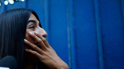 La joven no podía ocultar su emoción (AFP)
