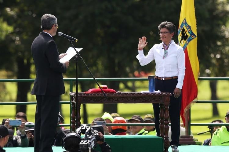 Claudia López jura como alcaldesa de Bogotá (REUTERS/Luisa Gonzalez)