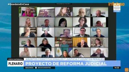 El proyecto de reforma judicial ya avanza en las comisiones del Senado
