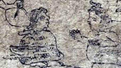 Acamapichtli and Ilancuéitl Photo: (Codex Xólotl, plate III)