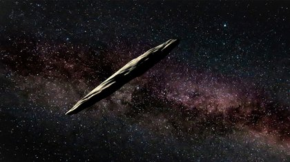 Visión conceptual de un artista sobre el misterioso asteroide