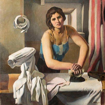 """""""Planchadora"""" (1930) de Roberto Fernández Balbuena (Museo Nacional de Arte de Cataluña)"""