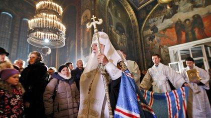 Las declaraciones del Patriarca Filaret contra el matrimonio homosexual provocaron un fuerte repudio en Ucrania (Serg Glovny/Zuma Wire/Shutterstock)