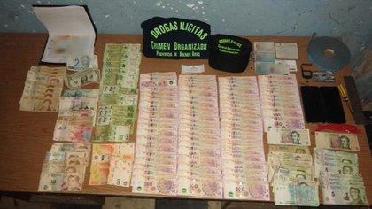 El dinero secuestrado a los delincuentes