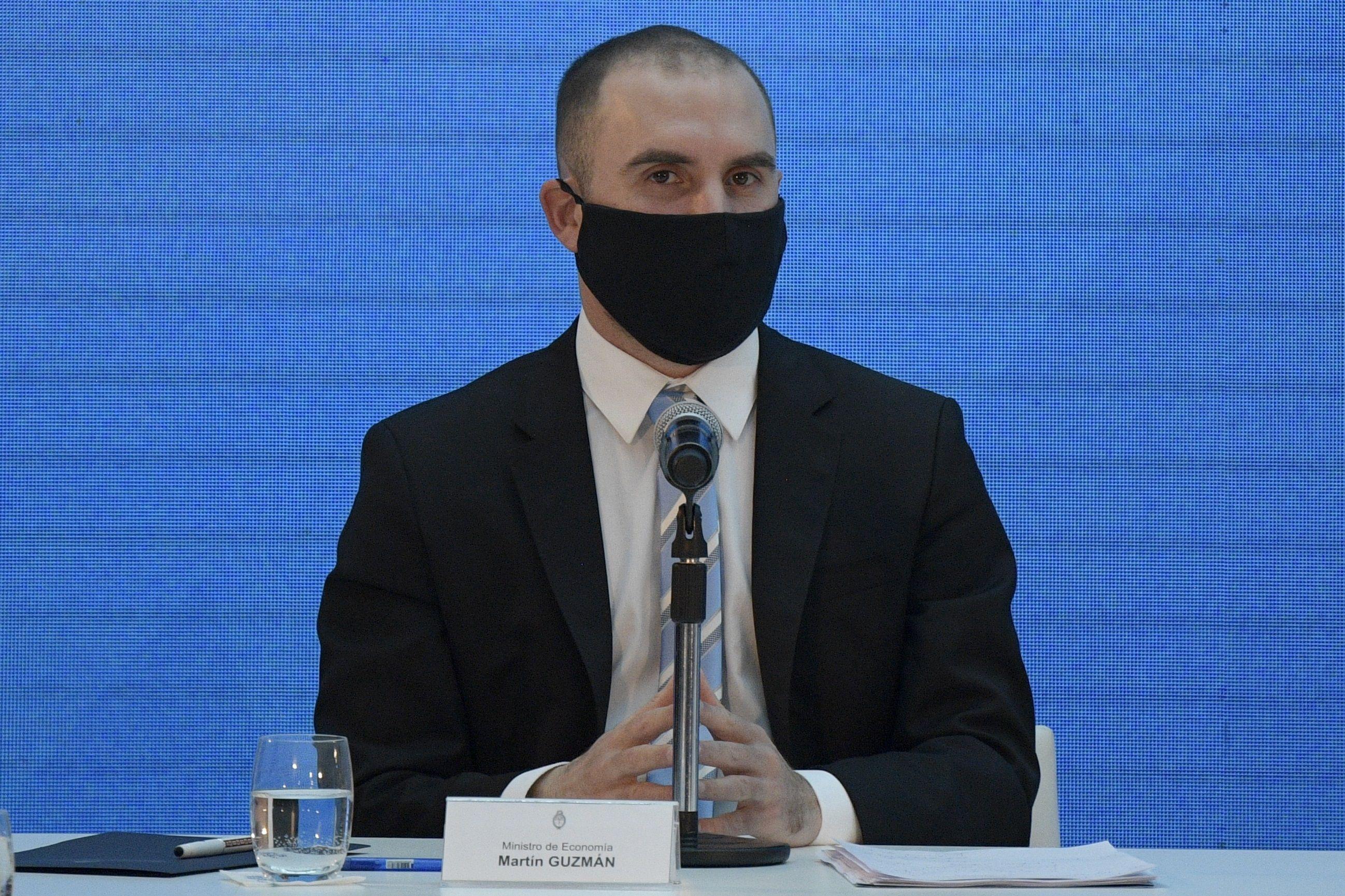 En la imagen, el ministro de Economía de Argentina, Martín Guzmán. EFE/Juan Mabromata/Archivo