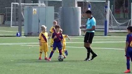 Thiago Messi en las divisiones inferiores de Barcelona