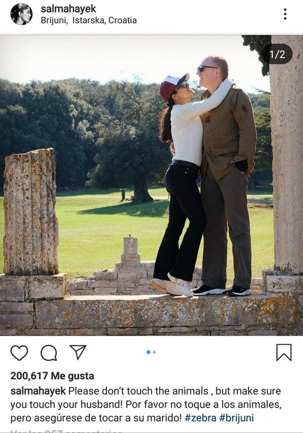 """Resultado de imagen para Recomendación y consejo de Salma Hayek: """"Asegúrese de tocar a su marido"""""""