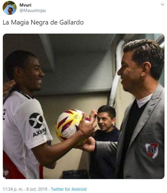 """Los memes de River sobre la """"magia negra"""" a Boca"""