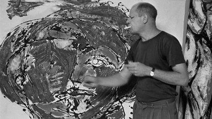 Pollock abandónó el dripping en el '52 y comenzó a recrear formas dentro de su expresionismo