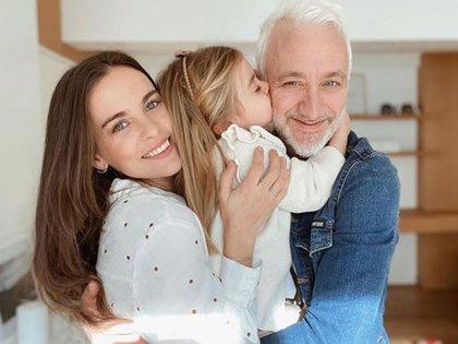 El reencuentro de Andy con su pareja y su hija (Foto: Instagram)