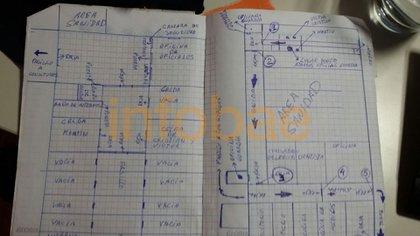 El plan de fuga en sus cuadernos