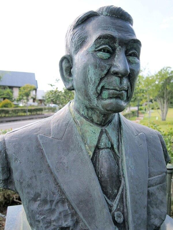 Un busto de Chiune Sugihara en el Museo en su memoria en Gifu, Japón.