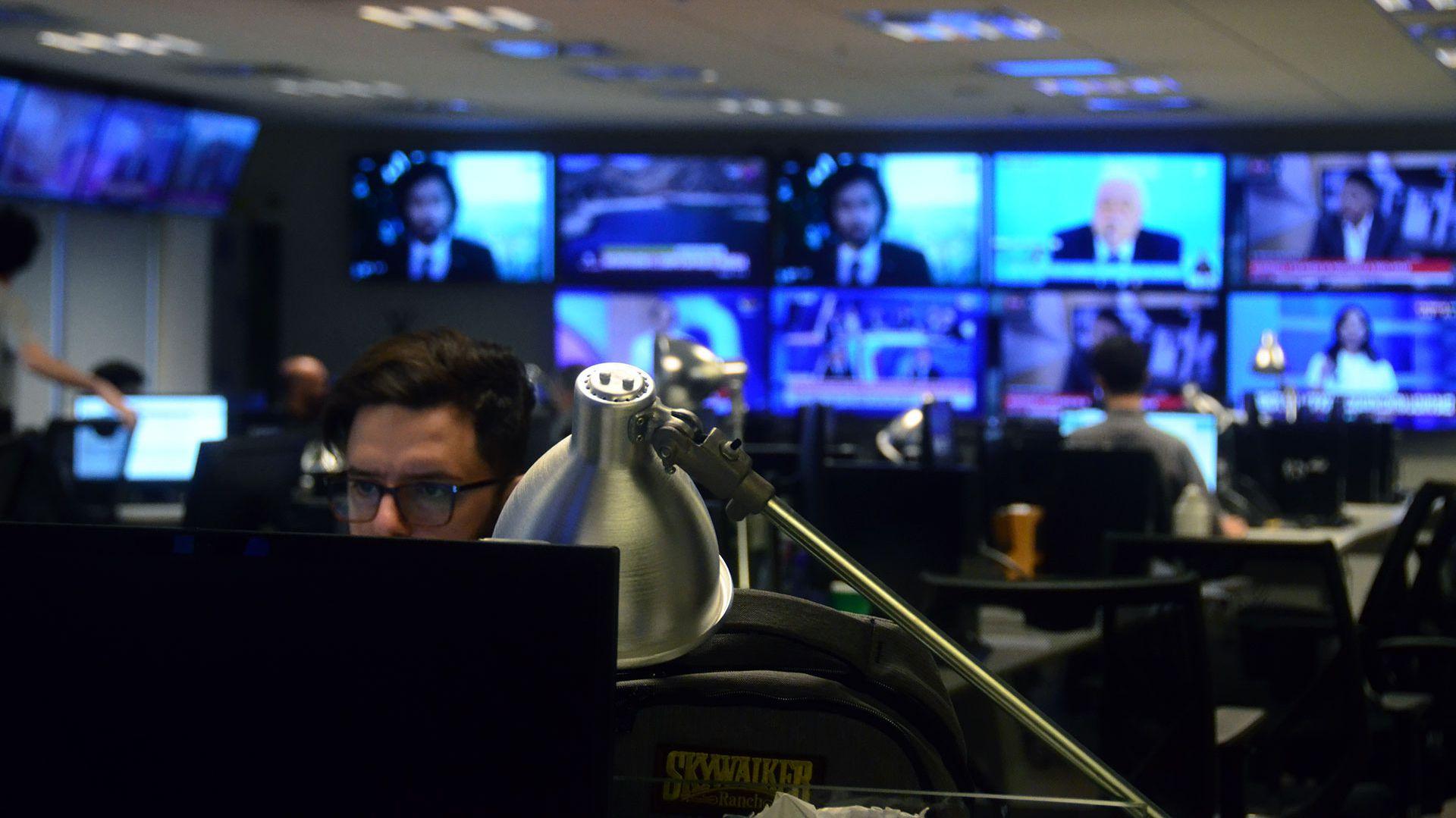 La redacción, en los estudios de Martínez. Allí trabaja el equipo de producción del noticiero