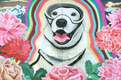 Celeste Byers fue la artista encargada del mural. La misma dono su trabajo para transmitir positivismo tras la tragedia (celestebyers)