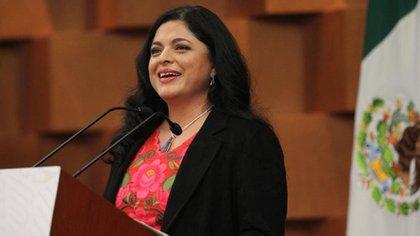 Alejandra Frausto, titular de la Secretaría de Cultura, estuvo presente en la reunión virtual (Foto: Gobierno de México)