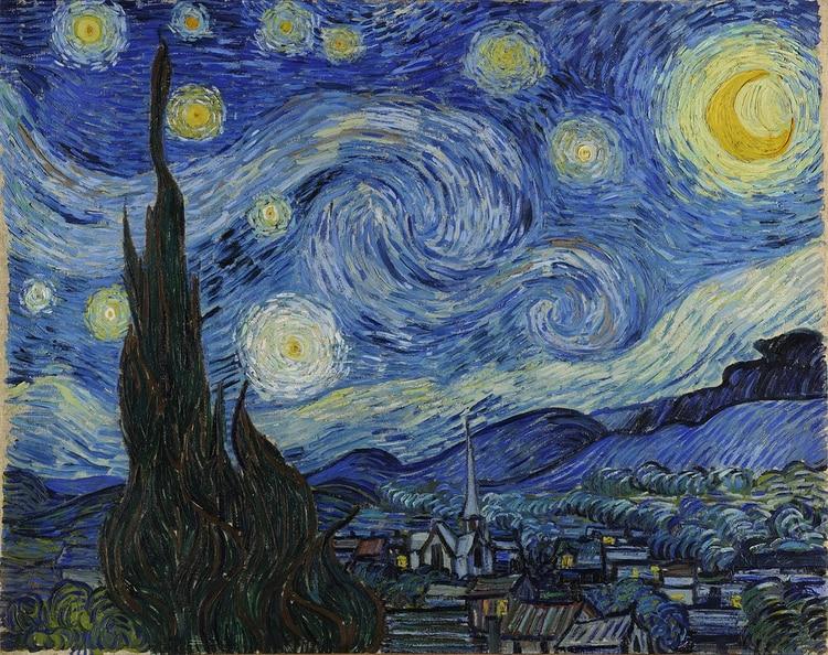 """""""Noche estrellada"""", una de sus obras más célebres"""