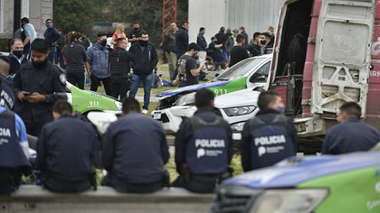 La Policía Bonaerense lleva tres días de protesta en diferentes puntos de la provincia de Buenos Aires (Gustavo Gavotti)